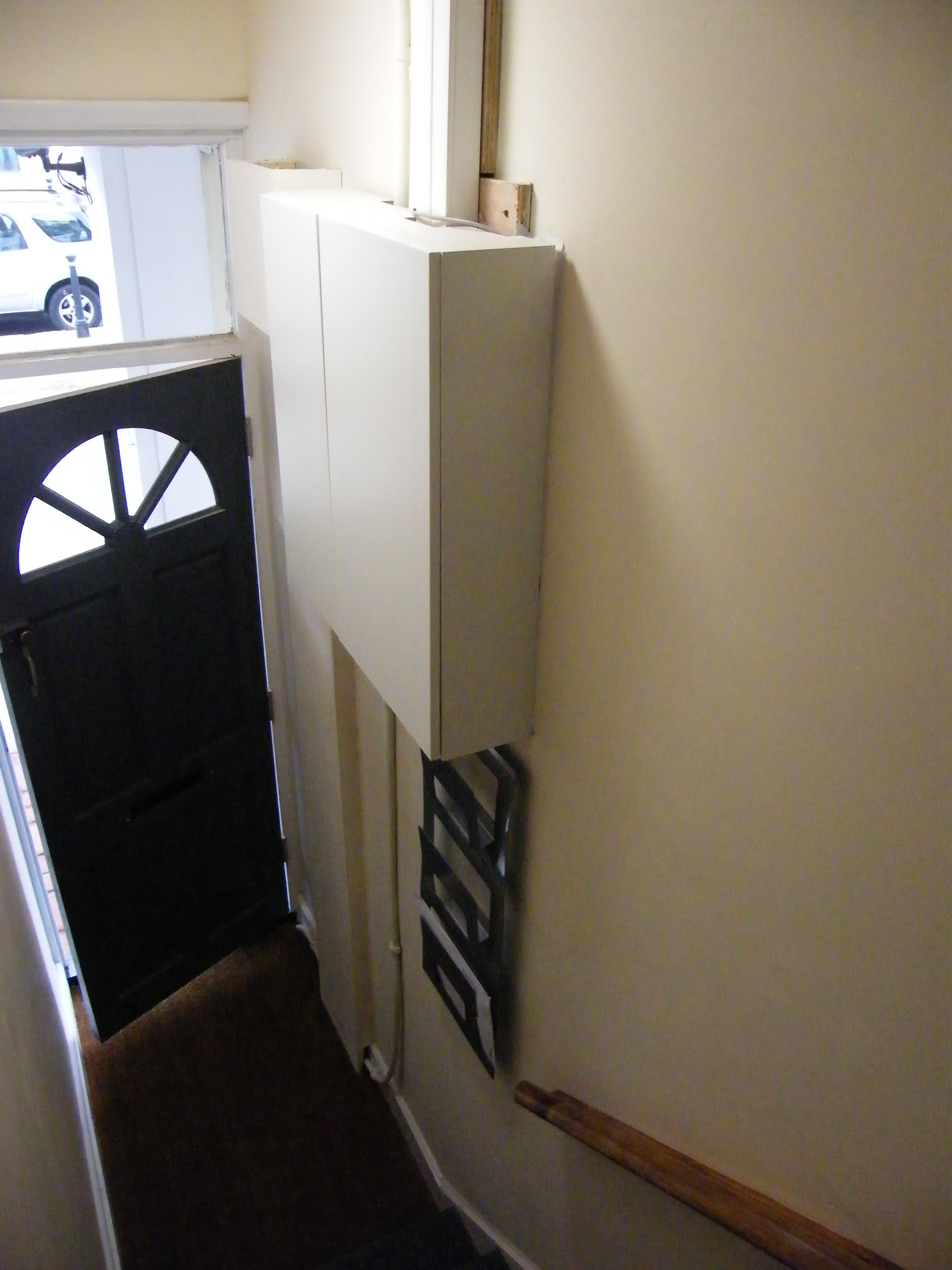 Case Study Complete Rewiring Of 52a Goring Road Worthing Pme A Room Electrics Hallway Cupboard